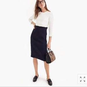 J. Crew Combo Navy and White Dress